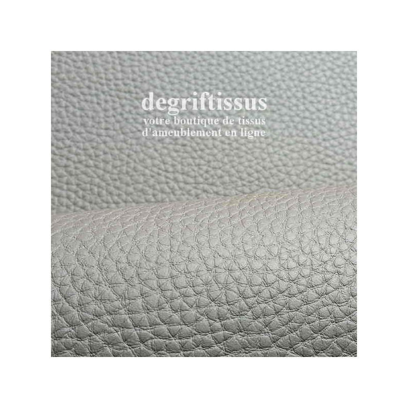 Dégriftissus vous propose ce tissu d'ameublement imitation cuir haut de gamme, épaisse, très résistante, de couleur taupe clair.