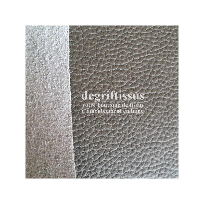 tissus d 39 ameublement au m tre imitation cuir gris taupe. Black Bedroom Furniture Sets. Home Design Ideas