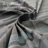 Tissu tissé Jacquard, bandes noires et grises, rayé