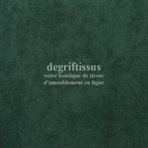 Daim suédine vert sapin Dégriftissus vous propose ce tissu d'ameublement imitation daim suédine, pour chaises, fauteuils, tête d
