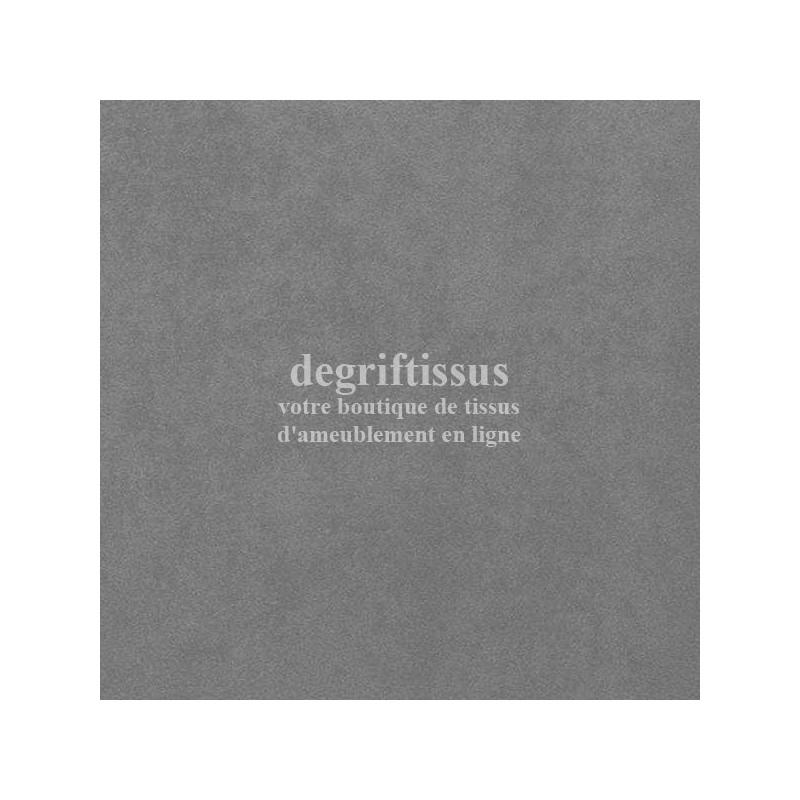 Tissu d'ameublement - Daim suédine gris - pour fauteuil - canapé - banquette - chaise - tête de lit - degriftissus.com