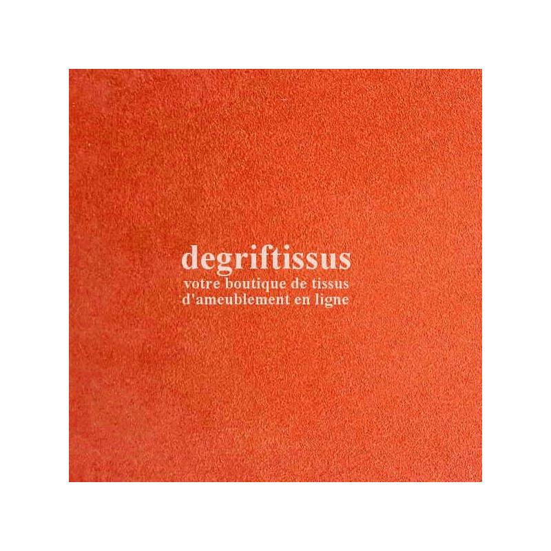 Tissu d'ameublement - Daim suédine orange - pour fauteuil - canapé - banquette - chaise - tête de lit - degriftissus.com