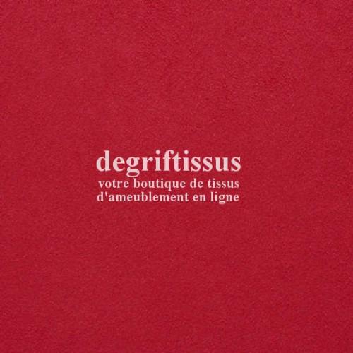 Daim suédine rouge DT - Dégriftissus - Tissu d'ameublement - daim suédine - chaises - fauteuils - canapé - banquette - coussin