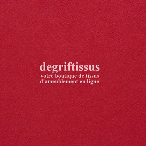 Daim suédine rouge DT Dégriftissus vous propose ce tissu d'ameublement imitation daim suédine, pour chaises, fauteuils, tête de