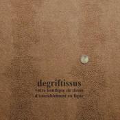 Tissu d'ameublement - chocolat clair à motifs écailles - fauteuil - canapé - banquette - coussin - chaise - degriftissus.com