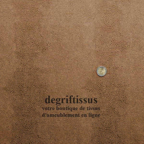 Ecaille chocolat clair doublé latex Dégriftissus vous propose ce tissu d'ameublement chocolat clair à motifs écailles, résistant