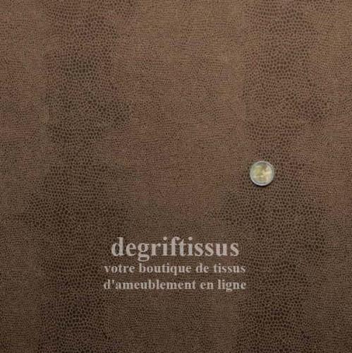 Ecaille chocolat doublé latex Dégriftissus vous propose ce tissu d'ameublement chocolat à motifs écailles, résistant, doublé lat