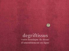 Ecaille bordeau Dégriftissus vous propose ce tissu d'ameublement bordeaux à motifs écailles, résistant, pour sièges, chaises, fa