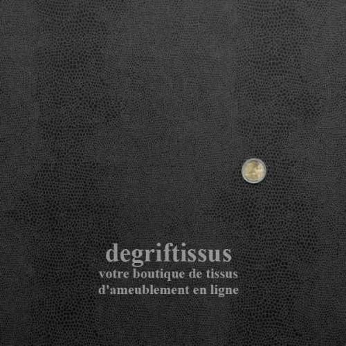 Ecaille noir doublé latex Dégriftissus vous propose ce tissu d'ameublement noir à motifs écailles, résistant, doublé latex, pour