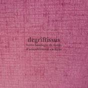 Lin brillant bois de rose Dégriftissus vous propose ce tissu d'ameublement imitation lin légèrement brillant, pour chaises, faut