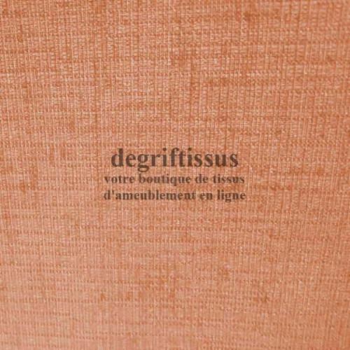 Lin brillant orange Dégriftissus vous propose ce tissu d'ameublement imitation lin légèrement brillant, pour chaises, fauteuils,