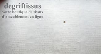 Ecorse blanc Dégriftissus vous propose ce tissu d'ameublement écorce d'arbre blanc, tissage velours chenillé de très belle quali