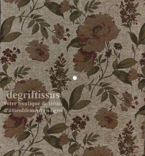 Tissu Tapisserie grandes fleurs Dégriftissus vous propose ce tissu d'ameublement tapisserie à grandes fleurs. Tissu d'ameublemen