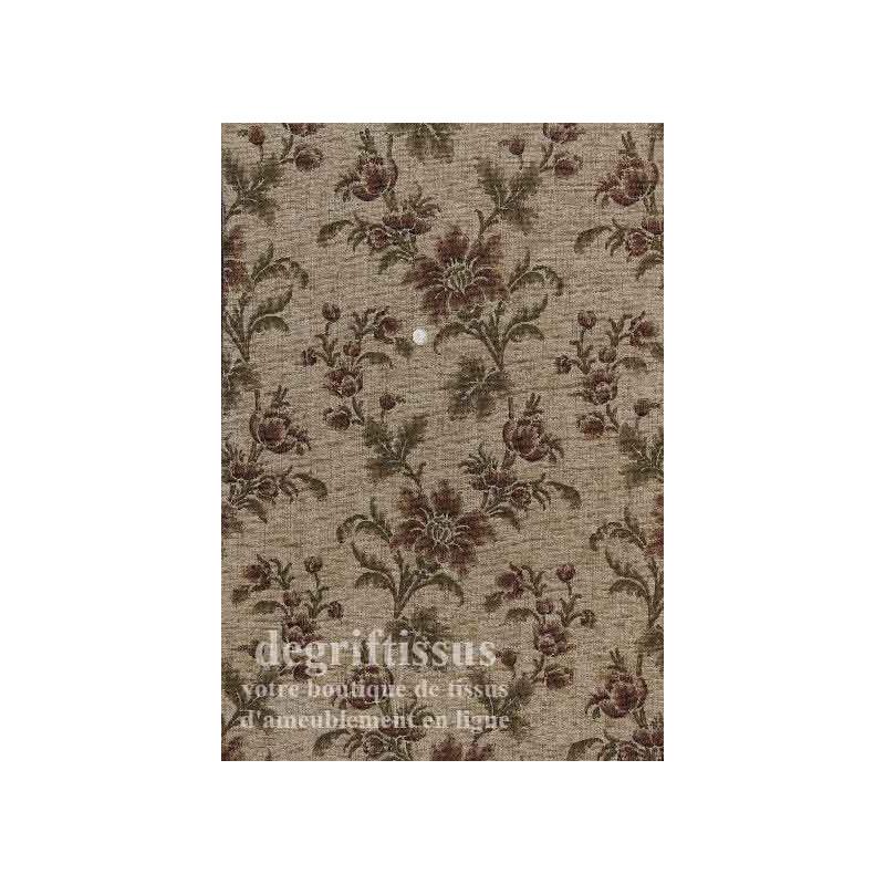 Tissu Tapisserie petites fleurs Dégriftissus vous propose ce tissu d'ameublement tapisserie à petites fleurs. Tissu d'ameublemen