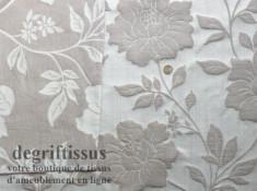 Tissu Tapisserie double face à grandes fleurs Dégriftissus vous propose ce tissu d'ameublement tapisserie lourd à fleurs, tissag