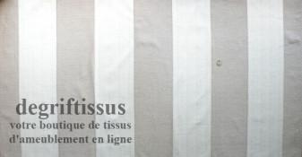 Tissu Tapisserie double face à bandes Dégriftissus vous propose ce tissu d'ameublement tapisserie lourd à rayures, tissage Jacqu