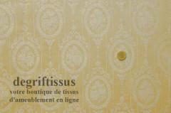 Satin d'ameublement tissé médaillon Trianon