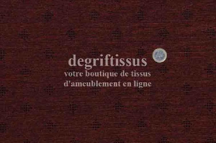 Velour chenillé Dégriftissus vous propose ce tissu d'ameublement chenillé marron à petits semis. Tissu d'ameublement chenillé ép