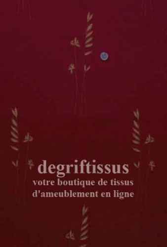 Tissu satiné tissé rouge épi de blé Dégriftissus vous propose ce tissu d'ameublement tissé satiné rouge. Tissu satiné tissé Jacq