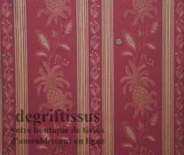 Tissu Jacquard à bande rayé Dégriftissus vous propose ce tissus d'ameublement tissé Jacquard avec motifs ananas, de belle épaiss