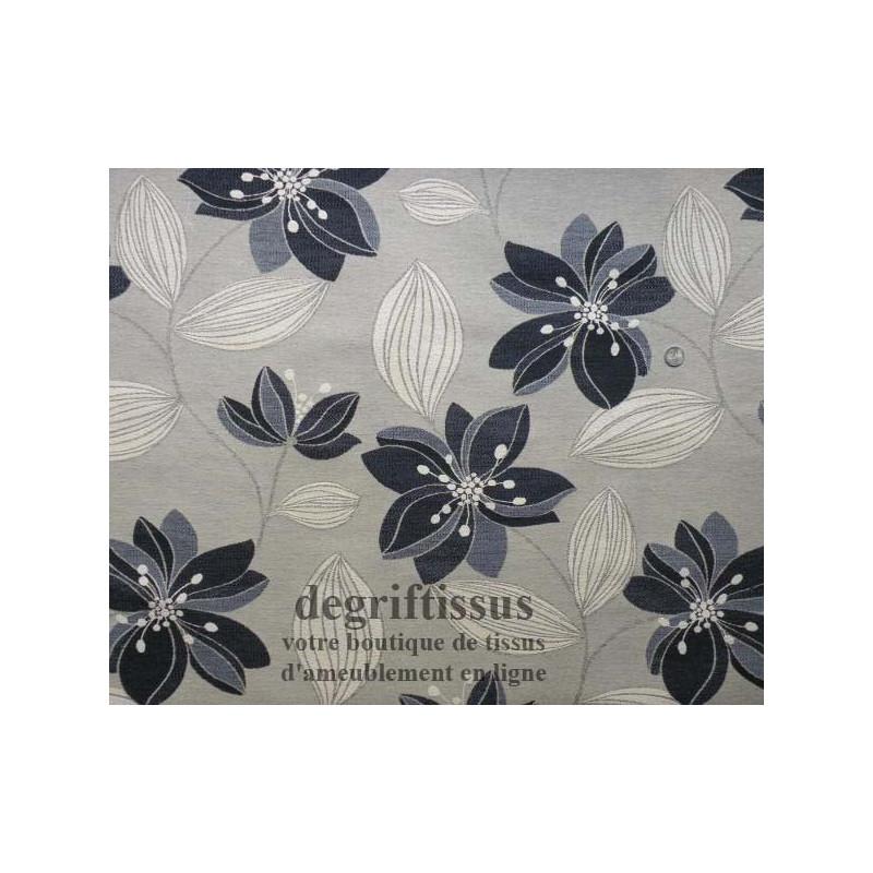 Tissu Jacquard fleuri Dégriftissus vous propose ce tissu d'ameublement Jacquard à grandes fleurs. Tissage d'ameublement Jacquard