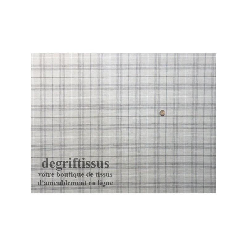 tissu ameublement jacquard jacquard cossais lin blanc gris beige hauts de france. Black Bedroom Furniture Sets. Home Design Ideas