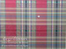 Tissu Jacquard écossais double face, bordeaux