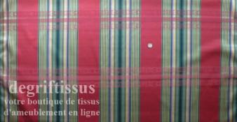 Tissu Jacquard écossais double face, bordeau vert Dégriftissus vous propose ce tissu d'ameublement écossais bordeaux et vert. Tr
