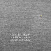 Dégriftissus vous propose ce tissus d'ameublement velours chenillé gris de belle épaisseur, très résistant, de couleur grise pou