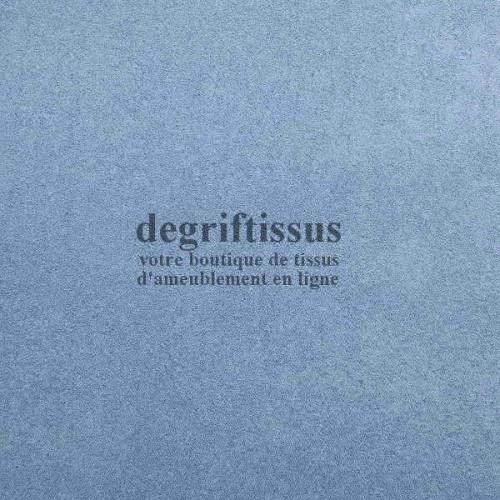 Daim suédine bleu ciel Dégriftissus vous propose ce tissu d'ameublement imitation daim suédine, pour chaises, fauteuils, tête de