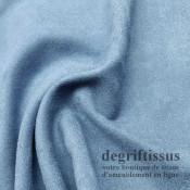 Tissu d'ameublement - Daim suédine bleu ciel - pour fauteuil - canapé - banquette - chaise - tête de lit - degriftissus.com