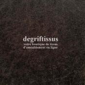 Tissu d'ameublement - imitation cuir vieilli brun - doublé latex - Dégrif' tissus