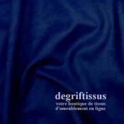 Tissu d'ameublement - Daim suédine bleu marine - pour fauteuil - canapé - banquette - chaise - tête de lit - degriftissus.com