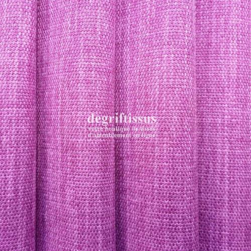 Lin rose grain moyen Dégriftissus vous propose ce tissu d'ameublement imitation lin texturé, pour chaises, fauteuils, tête de li