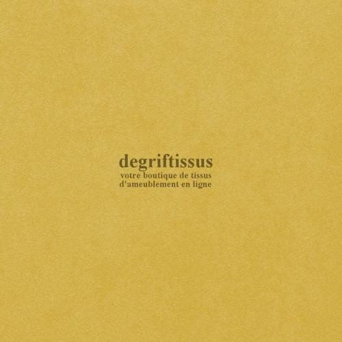 Daim suédine jaune Dégriftissus vous propose ce tissu d'ameublement imitation daim suédine, pour chaises, fauteuils, tête de lit