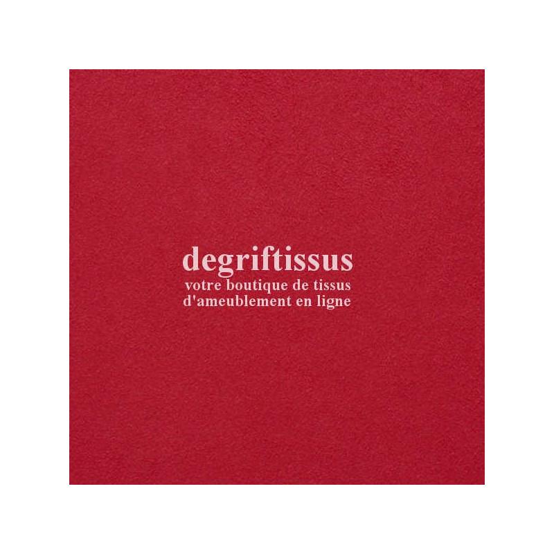 Daim suédine fushia DT Dégriftissus vous propose ce tissu d'ameublement imitation daim suédine, pour chaises, fauteuils, tête de