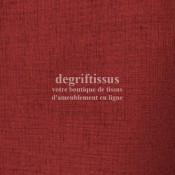 Dégriftissus vous propose ce tissu d'ameublement occultant bordeaux, le vrai occultant doublé de plastique blanc (noir total en