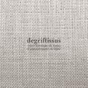 Jute grège Dégriftissus vous propose ce tissu d'ameublement de style uni gris-beige. Très beau tissage doublé latex, très épais