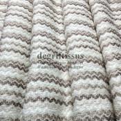 Dégriftissus - Tissu d'ameublement - motifs vaguelettes - tissage Jacquard - doux - aspect laine - fauteuils - chaises - canapé