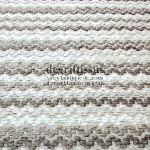 Tissu d'ameublement motifs vaguelettes, tissage Jacquard de grande résistance, doux, d'aspect laine - Dégrif' tissus