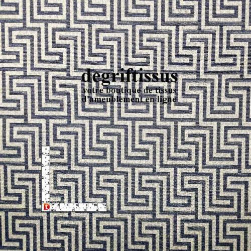 Tissu d'ameublement - Jacquard labyrinthe - fauteuil - chaise - banquette - canapé - coussin - tête de lit - degriftissus.com