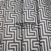 Tissu d'ameublement - Jacquard motif labyrinthe - pour fauteuil - chaise - canapé - coussin - tête de lit - degriftissus.com