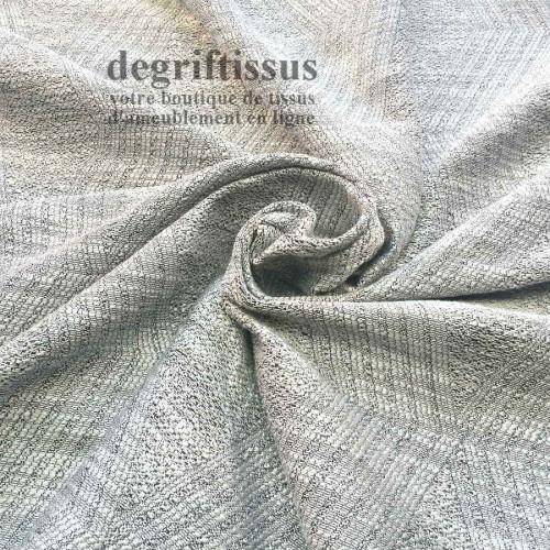 Tissu d'ameublement - losanges gris argentés - pour fauteuil - canapé - banquette - coussin - chaise - degriftissus.com