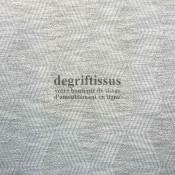 Tissu d'ameublement - losanges gris argentés - fauteuil - canapé - banquette - coussin - degriftissus.com