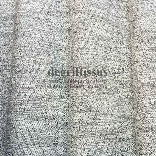 Tissu d'ameublement - losanges gris argentés - fauteuil - canapé - banquette - coussin - chaise - tête de lit - degriftissus.com