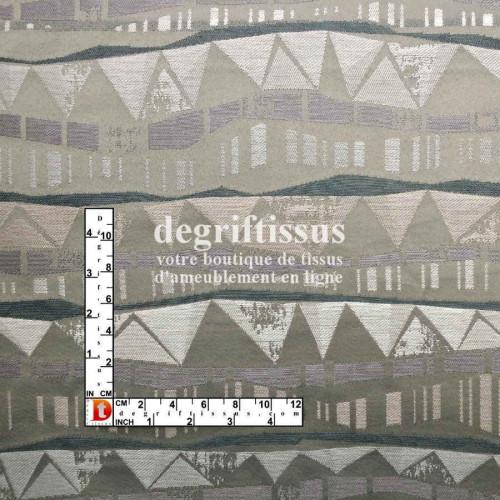 Dégriftissus vous propose ce tissu d'ameublement Jacquard motifs toits vus de nuits, de grande résistance, très souple, recomman