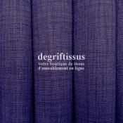 Lin violet Dégriftissus vous propose ce tissu d'ameublement imitation lin, pour chaises, fauteuils, tête de lit, canapés, banque