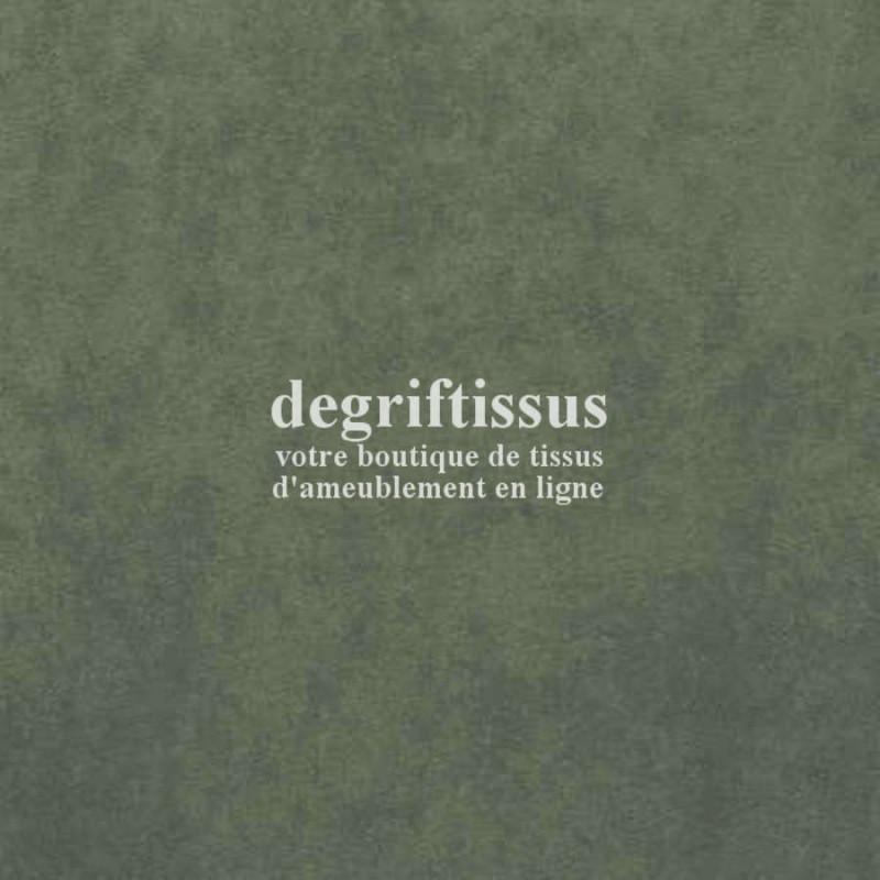 Daim suédine Vert. Dégriftissus vous propose ce tissu d'ameublement imitation daim suédine, pour chaises, fauteuils, tête de lit