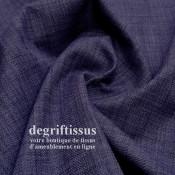 Lin 705 violet DL Dégriftissus vous propose ce tissu d'ameublement imitation lin, pour chaises, fauteuils, tête de lit, canapés,