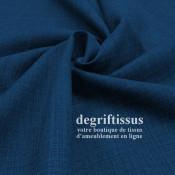 Lin 602 bleu nuit DL Dégriftissus vous propose ce tissu d'ameublement imitation lin, pour chaises, fauteuils, tête de lit, canap